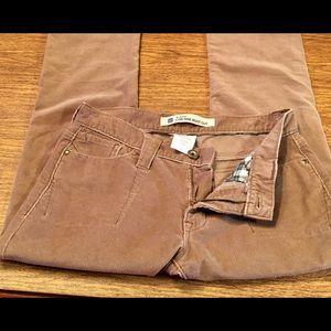 GAP Sz 4L Women's Brown Low Rise Corduroy Pants